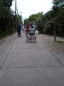 Oh, no -- a tricycle!