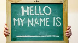 Names hello my name is