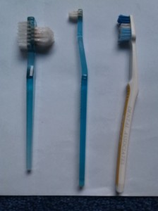 Three Toothbrushes!